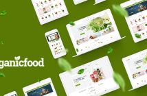 OrganicFood: tema de OpenCart para alimentos, alcohol y cosméticos (muestras de color incluidas)