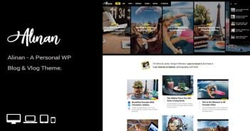 Alinan WP - Un blog personal de WordPress y tema de Vlog