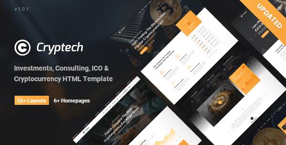 Cryptech - Tema de WordPress sobre inversiones, consultoría, ICO y criptomoneda