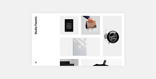 Tema de WordPress minimalista para portafolio de estudio / agencia