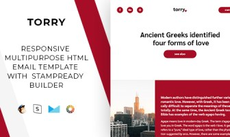 Torry - Correo electrónico receptivo + StampReady Builder & Mailchimp