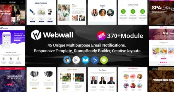 Webwall- 370+ Módulos - Responsive Email Template + Builder