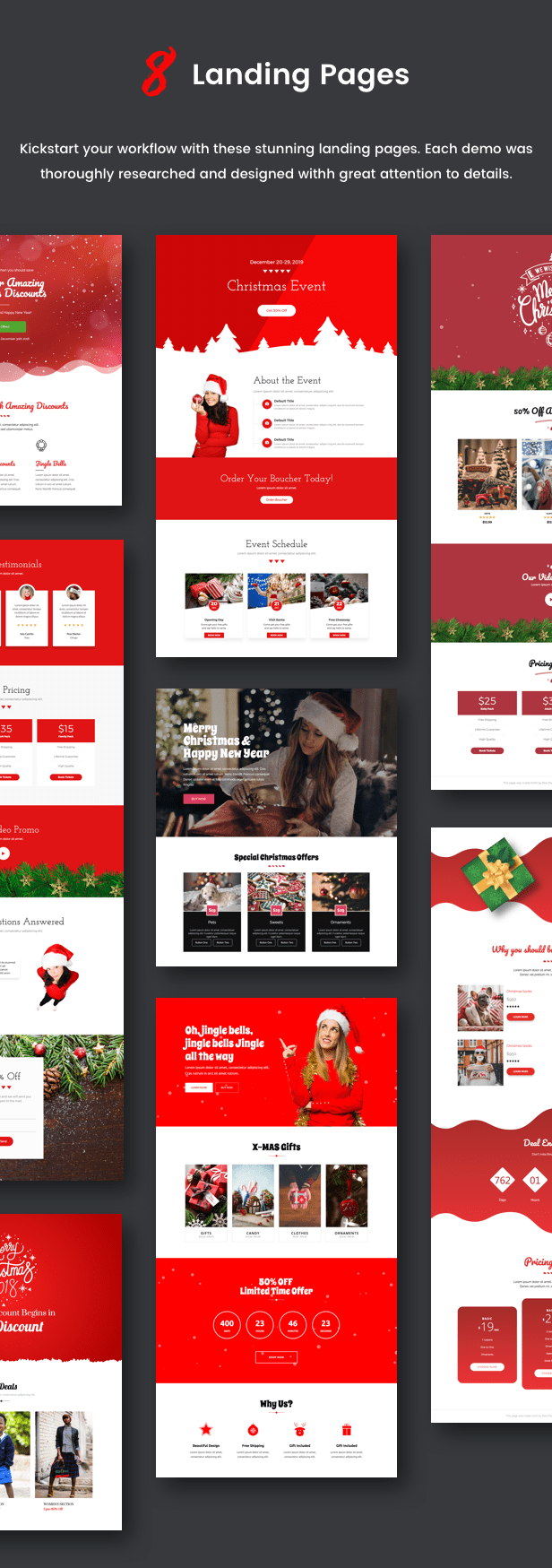 Spirit - Christmas Landing Pages con Page Builder - 1
