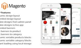 Aplicación móvil para Magento: código fuente de ionic 3 para iOS y Android con extensión Magento
