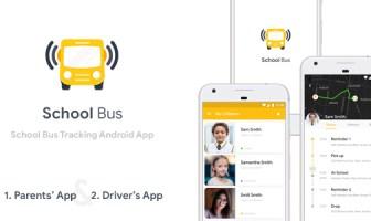 Plantilla de aplicación de Android de seguimiento de autobús escolar (código XML)