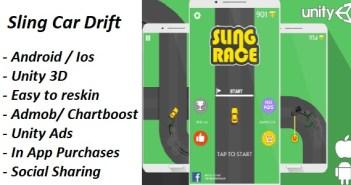 Sling Car Drift + Admob + Chartboost + Unity + Compras en la aplicación