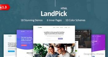 LandPick - Plantilla HTML de Bootstrap 4 de varias páginas de destino de uso múltiple