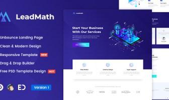 LeadMath - Plantilla de página de inicio de Unbounce de generación de leads