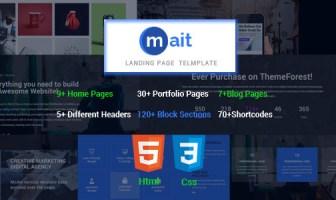 Mait | Plantilla de página de inicio de HTML de Bootstrap sensible