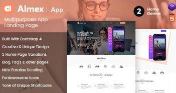 Almex: Una Página Responsive HTML5 Parallax Business Landing Page