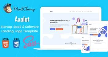Axolot - Plantilla de página de inicio, SaaS y software