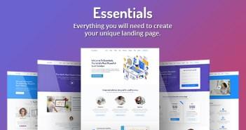 Essentials - Plantilla de página de inicio de SaaS de alta conversión