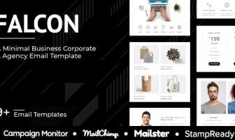 Falcon Agency - Plantilla de correo electrónico de agencia multipropósito sensible - StampReady + Mailster + Mailchimp