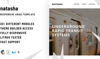 Natasha - Responsive Email + StampReady Builder