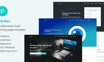 Software Parker y plantilla de página de inicio de inicio