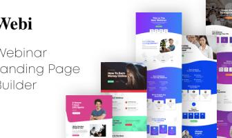 Webi - Webinar páginas de destino con Page Builder
