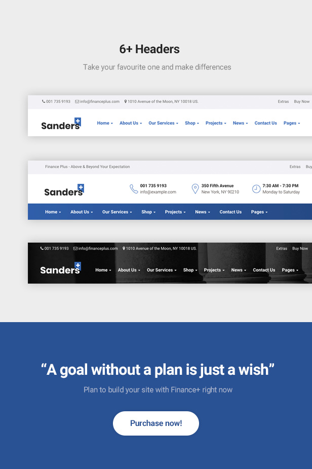 Sanders - Plantilla de Bootstrap 4 de Finance and Business de confianza - 4