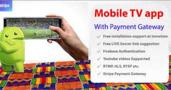 Aplicación de transmisión de TV móvil con Stripe Payment Gateway - The Money TV