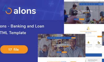 Alons - Plantilla HTML para banca y préstamo