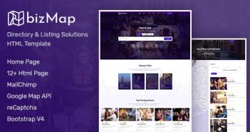 BizMap - Plantilla HTML para el Directorio de Negocios