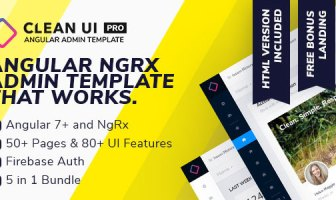 Clean UI Angular Pro - Angular NgRx Admin Template + Html Version