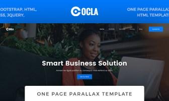 Ocla - Plantilla de paralaje de una página