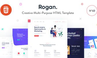 Rogan - Plantilla HTML multipropósito creativo