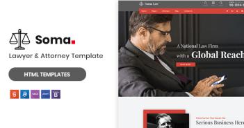Soma - Plantilla HTML5 de abogado y abogado