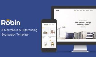 Robin - Plantilla Bootstrap4 de eCommerce para muebles