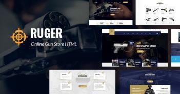 Ruger - Plantilla HTML5 para Guns Store