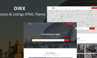 DirX - Plantilla HTML de listado de directorios