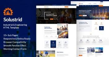Solustrid - Plantilla HTML de empresa industrial y de fábrica