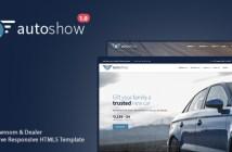 AutoShow: plantilla de HTML5 adaptable para el automóvil y distribuidor de automóviles