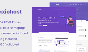 Axiohost - Plantilla de sitio HTML de alojamiento moderno
