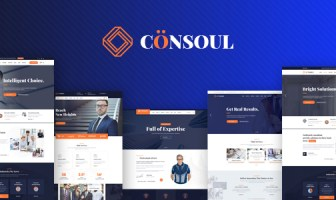 Consoul - Plantilla HTML de servicios de consultoría de negocios y servicios profesionales