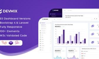 Devmix - Bootstrap 4 + Laravel Admin Dashboard Template