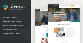 idvero - Plantilla HTML para una compañía de seguros