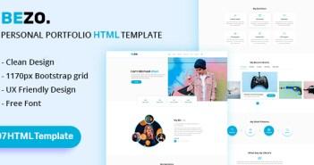 BEZO - Plantilla HTML de carpeta personal