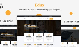 Edux - Education & Online Courses Multipages Template