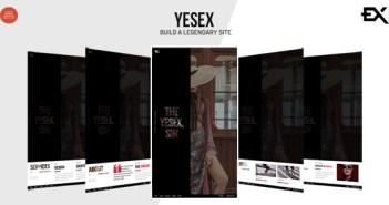Yesex - Plantilla de portafolio de una página creativa