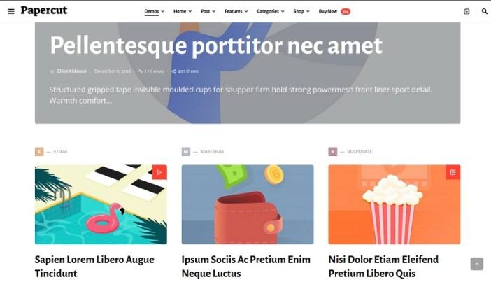 plantillas wordpress para magazines sobre diseño gráfico