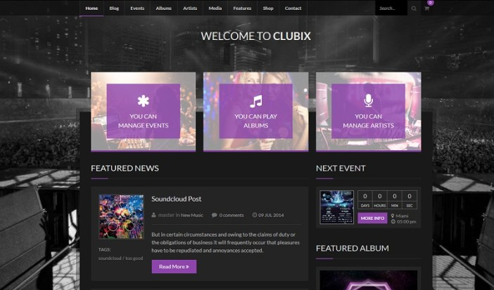 PLANTILLAS WORDPRESS BANDAS DE MUSICA