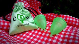 De Groene Cup, 2 cup + zijden zakje
