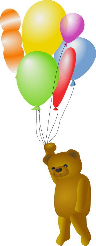 Red Yellow And Blue Balloons Clip Art