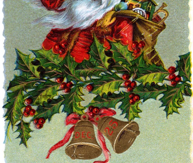 Victorian Christmas Greeting Card