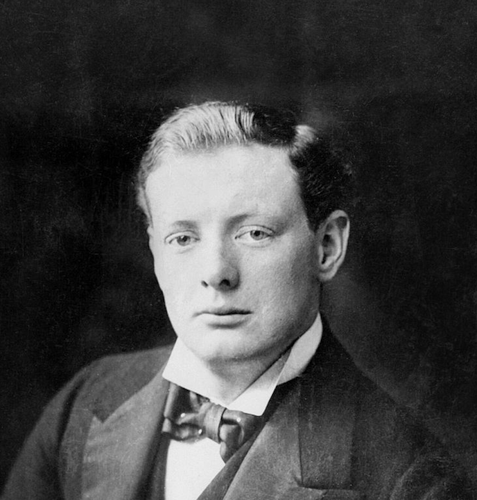 Churchill as a young man