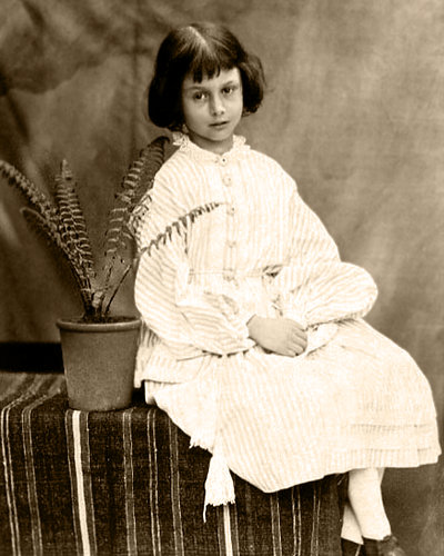 The real Alice Liddell at age 7