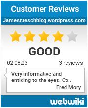 Reviews of jamesrueschblog.wordpress.com