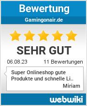 Bewertungen zu gamingonair.de