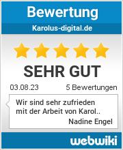 Bewertungen zu karolus-digital.de